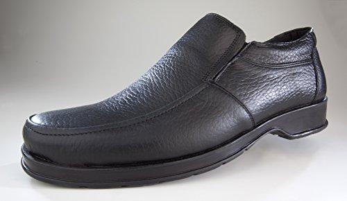 Slipper aus Echtleder, Farbe schwarz, Gr. 40