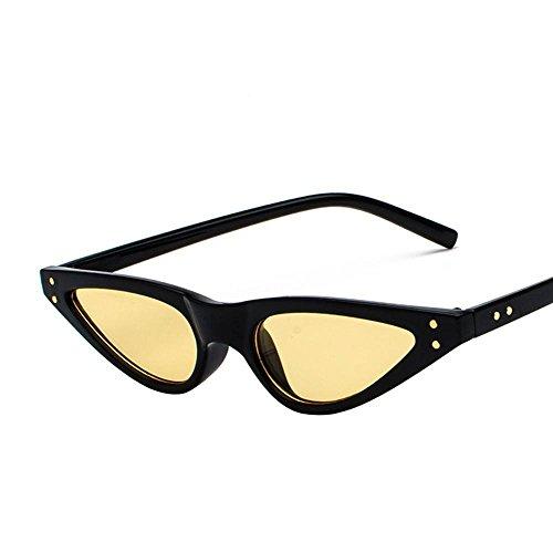 Aoligei Europe et Amérique Street beat rouge Lunettes de soleil lunettes de soleil triangulaire couleur d'oeil du chat Retro transparent 021ytFDP4i