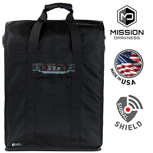 Mission Darkness T10 Faraday Bag for Towers - Device Shielding for Law Enforcement, Military, Executive Privacy, EMP Protection, Travel & Data Security, Anti-hacking & Anti-tracking Assurance