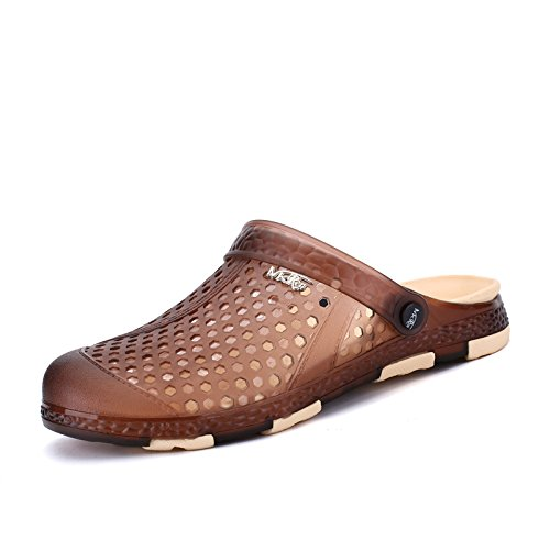 Sandálias Homens, Na Primavera E Verão Sapatos Buraco, Moda, Respirável Cor Sapatos De Praia: Azul, Verde, Cinza, Marrom, Exército ,, Marrom, Eu44