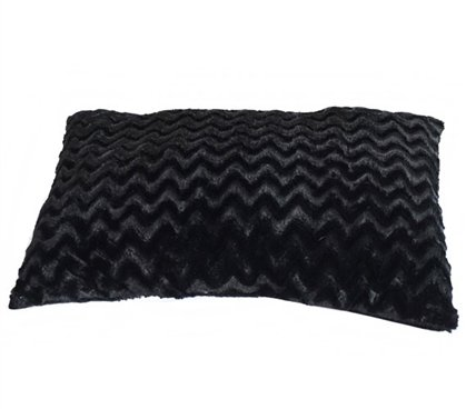 Plush Jumbo Wide Body Pillow - Black (Extra Large Pillow)
