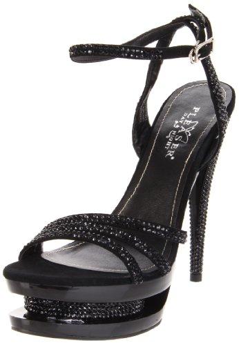 Pleaser Women's Fascinate-637DM/BS/M Platform Sandal,Black Suede/Black,10 M (Mystique Studded Sandals)