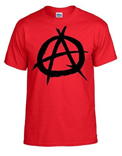 Anarchy A Punkrock Shirt Rot Gr. S-XXL