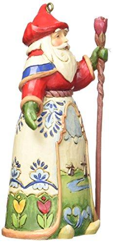 Jim Shore Heartwood Creek Dutch Santa Stone Resin Hanging Ornament, - Ornament Tulip