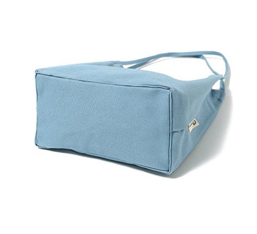 Canvas Tote Bag Handbag Shoulder Bag Purses For Men And Women (Light blue) by Jeelow (Image #5)
