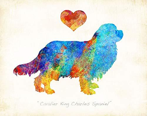 CAVALIER KING CHARLES SPANIEL #2 Watercolor Art Print