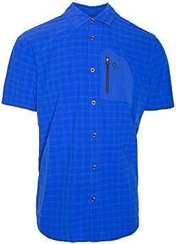 Ternua camisa MC ATHY SHIRT hombre - color azul /cuadros azules (xxl): Amazon.es: Deportes y aire libre