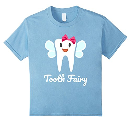 Kids Tooth Fairy Halloween Costume T-Shirt 4 Baby Blue -