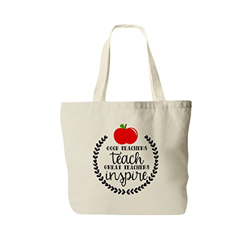 Teacher Tote Bag - Inspirational Gift for Teacher - Canvas Bag