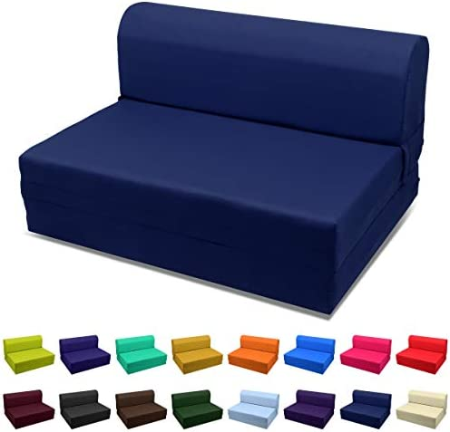 Cheap Magshion Futon Furniture Sleeper Chair Folding Foam Bed Choose Color Sized Single,Twin or Full Full 5x46x74 living room sofa for sale