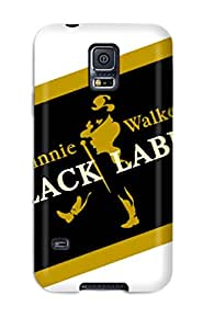 7513498K19962685 New Cute Funny Johnnie Walker Logo Case Cover/ Galaxy S5 Case Cover