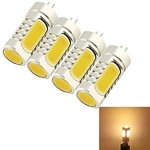 Ledtcx 4PCS G4 5W 4*COB 210LM 3000K Warm White Light Corn Bulbs (AC/DC12V)