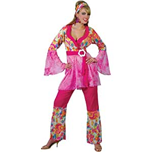 60s Groovy Hippie Hippy Chick Fancy Dress Costume XS (disfraz)