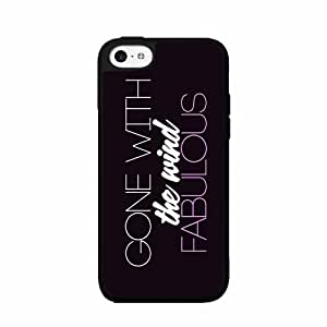 Gone with the Wind Fabulous- TPU RUBBER SILICONE Phone Case Back Cover iPhone 5c