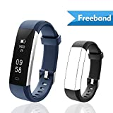 Lintelek Fitness Tracker with replacement band, Slim Activity Tracker Watch with Sleep Monitor, Step Counter, IP67 Waterproof, Smart Bracelet Pedometer Sports Smart Watch for Men, Women and Kids