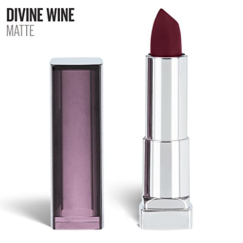 Maybelline New York Color Sensational Red Lipstick Matte Lipstick, Divine Wine, 0.15 - Siren Red Wine