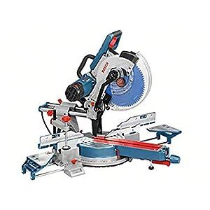 Bosch Professional GCM 12 SDE – Ingletadora telescópica (1800 W, Ø Disco 305 mm, Soft Start, velocidad variable, láser…