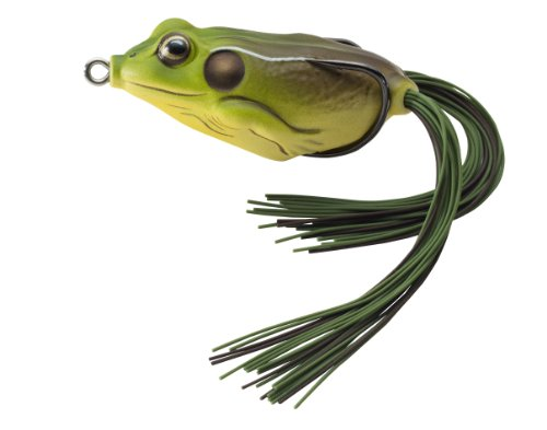 Koppers Floating Frog Hollow Body Lure, 2.25-Inch, 5/8-Ounce, Green/Brown