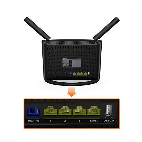 Tenda AC9 AC1200 Enrutador inalámbrico (1200Mbps, 5 puertos Gigabit, 2 antenas externas 3dBi, doble banda 5 GHz 2,4 GHz, VPN, memoria 128MB, Beamforming +, ...