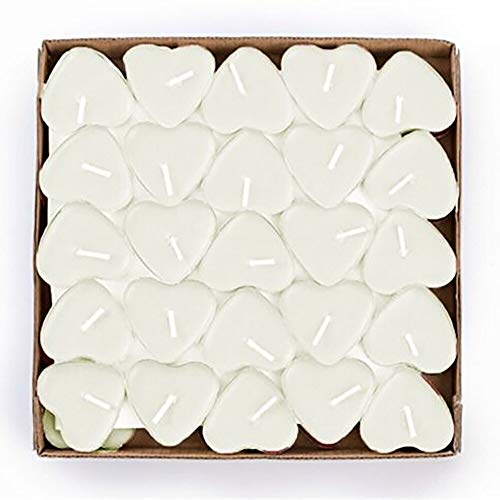 Home Decoration - 50PCS Romantic Love Wedding Party Heart Shaped Scented Candles Home Decor Smokeless Sweet tealights Candles Christmas Xmas Decor