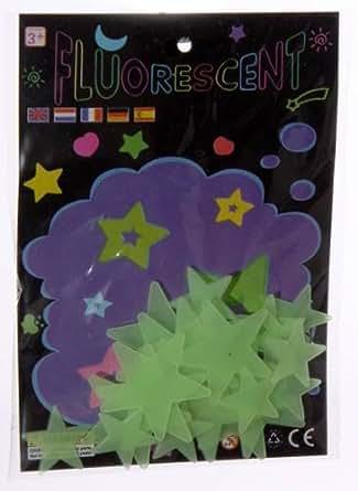 Lote de 24 estrellas fluorescentes