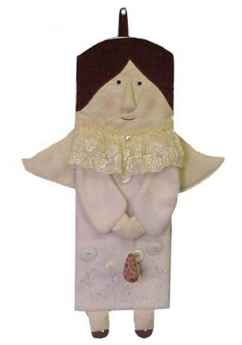 Midwest-CBK Angela Evans Angel Fabric Plush Christmas Stocking (Plush Angel Stocking)