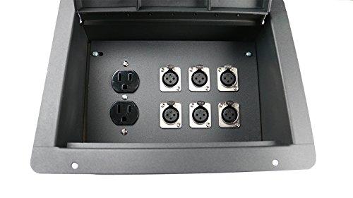 Elite Core FBL6 Recessed Floor 6 XLRF + Duplex AC with Back Box