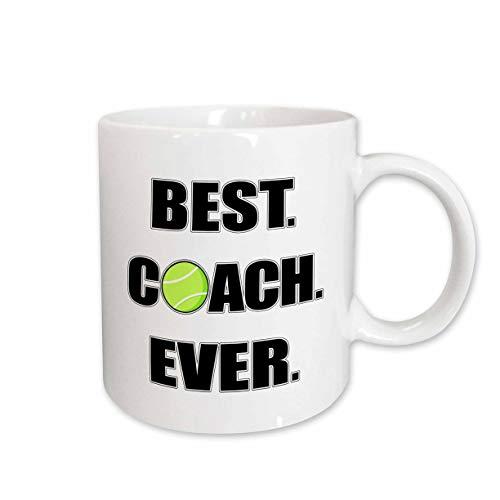 3dRose 195232_2 Tennis - Best Coach Ever Mug 15oz