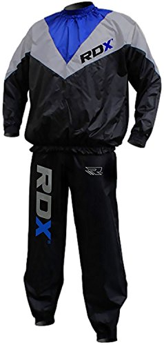 Authentic RDX Fight ME Non Rip Sauna Sweat Track Suit Weight loss Slimming Fitness Boxing Gym Belt Mens (M) For Sale