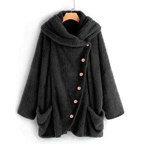 Women's Coat for Winter, Seaintheson New Womens Casual Soft Sherpa Fleece Fuzzy Coats Solid Warm Oversized Outwear Jackets
