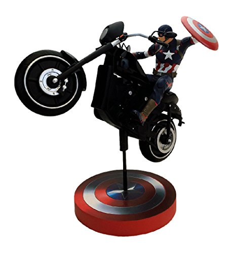 Factory Entertainment Marvel Comics Captain America Premium Motion Statue