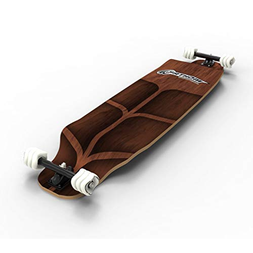 Cheap Complete Longboards - Fathom by Shark Wheel Long Drop Roam Longboard Skateboard Complete Kit, Brown