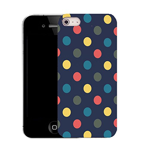 Mobile Case Mate IPhone 5 clip on Silicone Coque couverture case cover Pare-chocs + STYLET - multi spot pattern (SILICON)