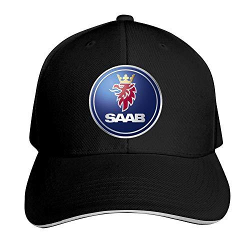 TIMOTHY HORN SAAB Logo Unisex Adult Adjustable Peaked Sandwich Hats Trucker Cap Baseball Cap Black