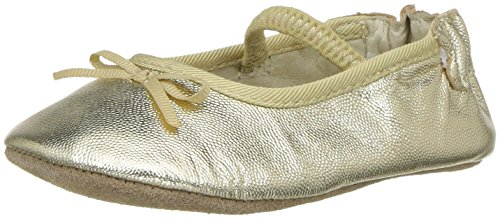 Robeez Girls' Rachel Ballet Flat Crib Shoe, Athena - Gold, 9-12 Months M US Infant