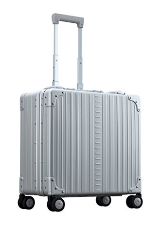 Aleon 17'' Deluxe Rolling Wheeled Aluminum Hardside Business Briefcase (Platinum) Silver by ALEON (Image #2)