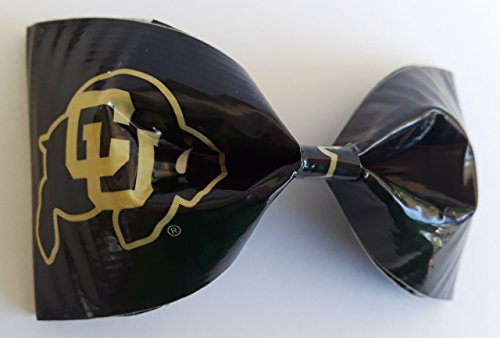 University of Colorado Boulder Buffaloes NCAA Duct Tape Bobby Pin Hair Bow or Bow Tie (Jewelry Ncaa Accessories)