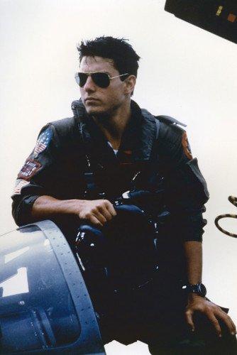 Tom Cruise in Top Gun Iconic in sunglasses Fighter Jet cockpit 24x36 - Cruise Top Gun Sunglasses Tom
