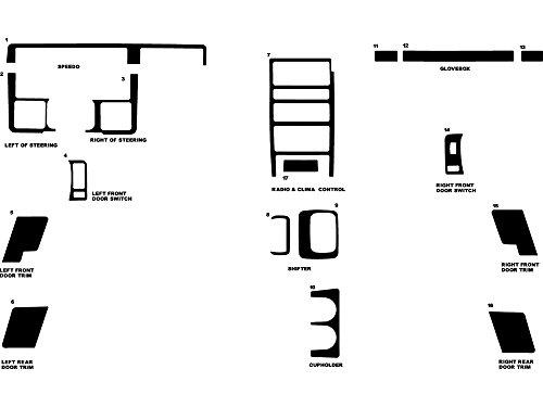 Rdash Dash Kit Decal Trim for Jeep Grand Cherokee 1993-1995 - Gloss (White)