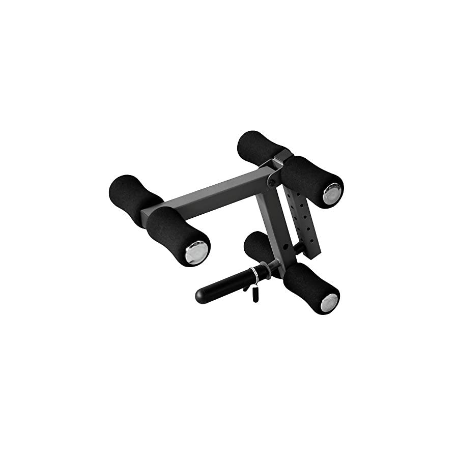 XMark Universal Leg Extension Attachment With Six Height Adjustments For Use With Standard or Olympic Plate Weights XM 4425.1