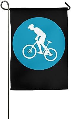 YUHO-MY Bandera Decorativa para Bicicleta de Montaña, Círculo con Icono, 30 x 45 cm: Amazon.es: Jardín