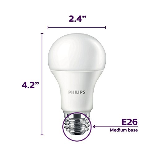 philips led non dimmable a19 frosted light bulb 1500 lumen 2700 kelvin 14 5 watt 100 watt. Black Bedroom Furniture Sets. Home Design Ideas