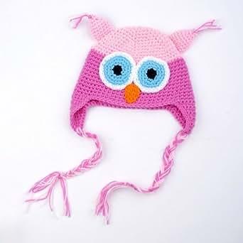 Neewer Cute Handmade Owl Newborn Baby Child Girls Boys Knit Hat Cap Photograph New Gift