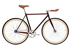 State Bicycle Ashton Fixed Gear/Fixie Single Speed Bike, 49cm/X-Small, Crimson
