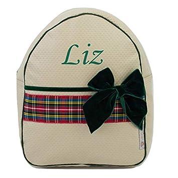 Mochila o Bolsa Infantil Personalizada con Nombre plastificada. Modelo Scotland Arena: Amazon.es: Equipaje