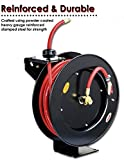 """REELWORKS Air-Hose-Reel Retractable 3/8"""" x 50' ft"""