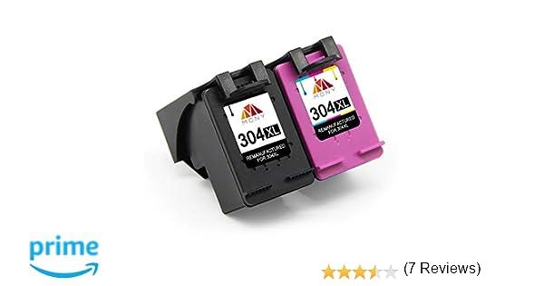Mony Remanufacturado Cartuchos de Tinta Reemplazo para HP 304 XL 304XL (1 Negro, 1 Tricolor) Compatible con HP Deskjet 3720 3730 3733 2620 2630 3750 ...