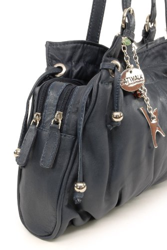 CATWALK ALICE de COLLECTION Cuero Azul hombro Bolso Oscuro 6rg6fwq
