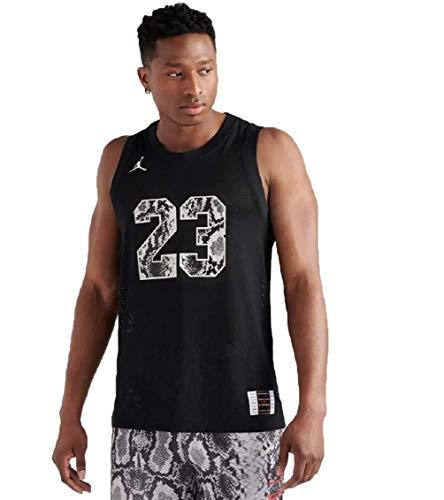 Jordan Legacy AJ 11 Snakeskin Jersey (M, Black) (Michael Jordan Washington Bullets Jersey 23 Throwback)