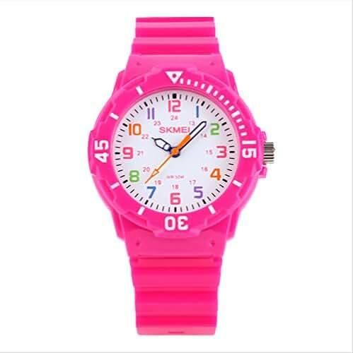 Children Watch Quartz Waterproof Jelly Wristwatch Pink